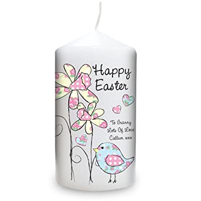 Personalised Daffodil Chick Easter Candle from Personalised Gifts Online