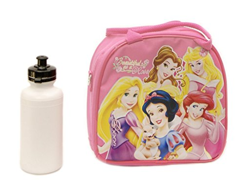 Disney Princess Lunch Bag with a Water Bottle Pink - 1