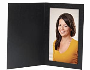 Cardboard Photo Folder 4x6 - Pack of 100 Black