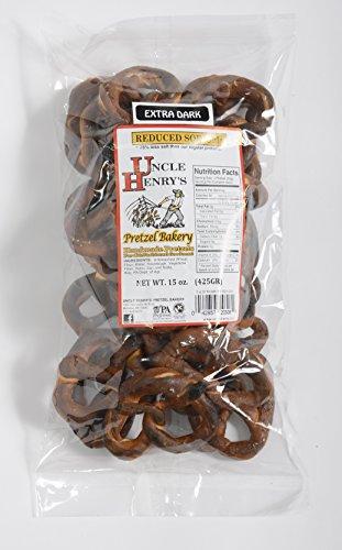Uncle Henry'S 6X15 Oz. Bags Extra Dark Low Sodium Pretzels front-118363