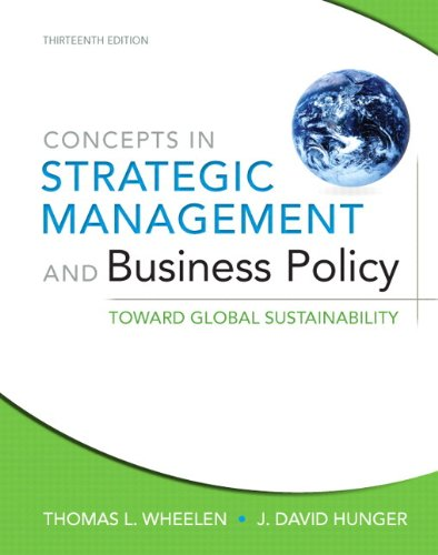 Concepts in Strategic Management and Business Policy: Toward Global Sustainability Plus New Mymanagementlab with Pearson Etext -- Access Card Package