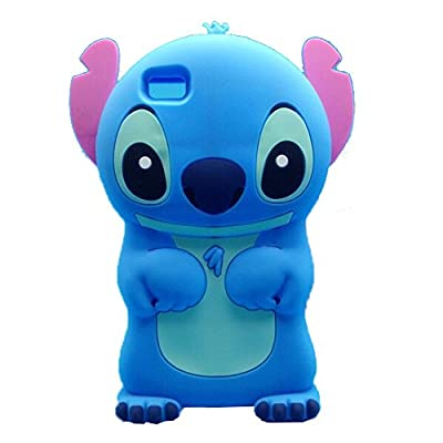 Jicheng Electronic P8 Lite 3d Lilo Stitch Case,3D Cartoon Cute 3d Lilo Stitch Movable Ear Flip Silicone Case for Huawei P8 Lite
