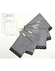 SugarSNAP Files Customizable Diaper Bag Organizer Mesh Pouches With Labels (black And White)