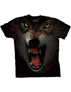 Angry Wolf Face The Mountain Kinder T-Shirt L