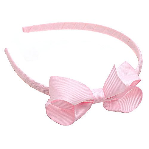 Boutique Baby Girl Accessory Grosgrain HAIRBAND PINK Hair Bow