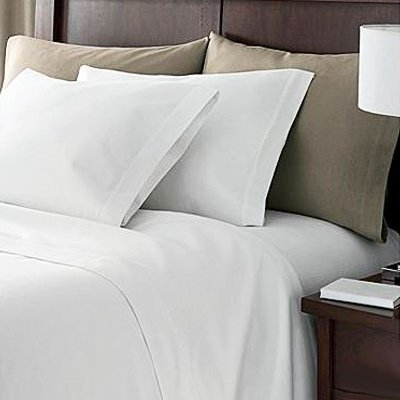 Linens Limited 100% Egyptian Cotton 200 Thread Count Fitted Sheet, White, Bunk Bed