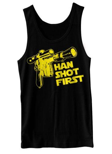 Han Shot First Funny Geek Geekery Nerd Cult Humor Tank Top