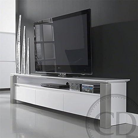 Coup de Cœur Design - Meuble Tv Laqué Brillant Blanc Design