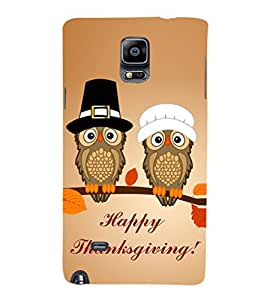 EPICCASE happy thanksgiving Mobile Back Case Cover For Samsung Galaxy Note Edge (Designer Case)