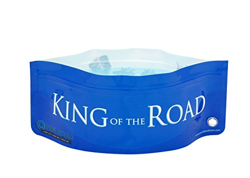 Sharkskinzz Foldable Collapsable Plastic Zip Loc Travel Pet Bowls (8 Bowls + 4 Bottles) (King Of The Road)