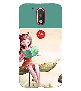 Printdhaba Reading Girl D-2657 Back Case Cover For Motorola Moto G4 Plus