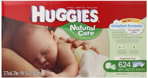 Huggies Natural Care Baby Wipes, Refill, 624 Count