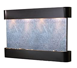 Sunrise Springs Water Feature with Blackened Copper Trim and Round Edges (Black FeatherStone)