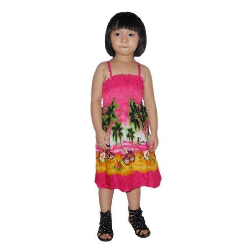 Baby Girls Thai Exotic Gathered / Smocked Bodice Sleeveless Summer Tank Dress - Size: 4