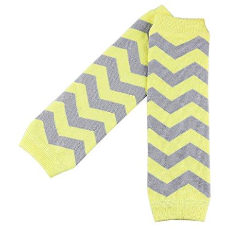 wennikids-colorful-bebe-calentadores-de-la-pierna-yellow-chevron-talla-unica