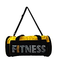 VINTO YELLOW BLACK WORDS STYLE GYM BAG