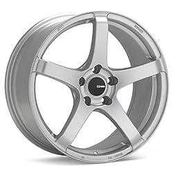 Enkei KOJIN- Tuning Series Wheel, Matte Silver (18×9.5″ – 5×114.3/5×4.5, 30mm Offset) One Wheel/Rim