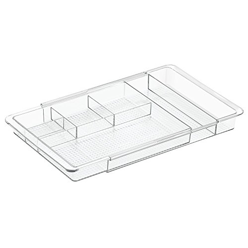 InterDesign Expandable Cosmetic Drawer Organizer for Vanity Cabinet to Hold Makeup, Beauty Products - Clear (Drawer Organizer Clear compare prices)