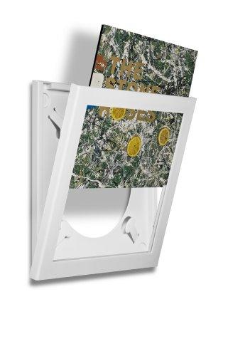 Art Vinyl Play und Display Schallplattenrahmen, single weiß