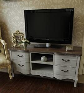 French Grey Range   Large TV Cabinet with Drawers       review and more information