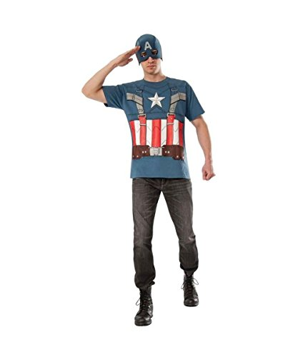 Captain America Winter Soldier Adult T?shirt Costume Kit