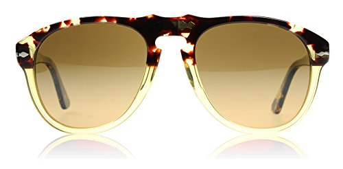Persol Sunglasses (PO0649) Yellow/Brown Acetate - Polarized - 54mm