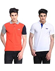 Bravezi Men's Combo Of Polo T-Shirt(Pack Of 2)