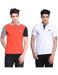 Bravezi Men's Combo Of Polo T-Shirt(Pack Of 2)