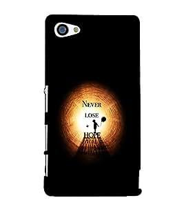 EPICCASE Never Lose Hope Mobile Back Case Cover For Sony Xperia Z5 Mini / Z5 Compact (Designer Case)