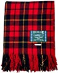 100% Scottish Wool Tartan Rug - Walla...