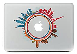 Last Innovation Famous buildings over the world Removable Vinyl Decal Sticker Skin for Macbook Pro Air Mac 13\