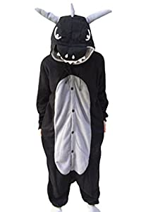 WOTOGOLD Animal Cosplay Costume Costume Dragon Unisex-adult Pajamas Cartoon Sleepwear Black