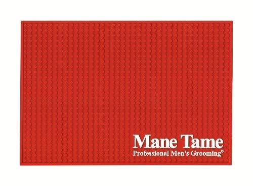 Mane Tame Professional Barber Station Mat 16 x 11 x .25 - Durable, Heavy-Duty, Sleek Design. Comfortably fits most barber workstations!