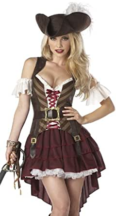 California Costumes Women's Eye Candy - Sexy Swashbuckler Adult, Burgundy, X-Small