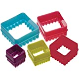 Five Piece Square Cookie Cutter Set