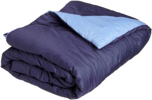Martex Reversible Full/Queen Comforter, Navy/Ceil Blue front-710871