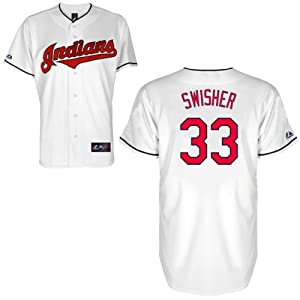 Nick Swisher Cleveland Indians Home Replica Jersey by Majestic by Majestic