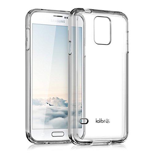 kalibri-Crystal-Case-Hlle-Sunny-fr-Samsung-Galaxy-S5-S5-Neo-S5-LTE-S5-Duos-transparente-Kunststoff-Schutzhlle-mit-TPU-Silikon-Rahmen-in-Transparent