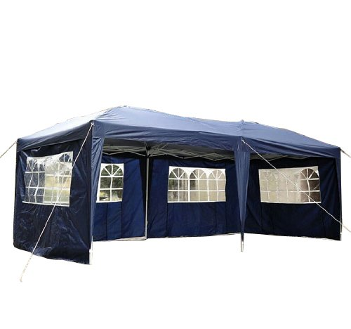 online kauf faltpavillon pavillon faltzelt partyzelt gartenzelt 3x6m blau homcom 100110 069b at. Black Bedroom Furniture Sets. Home Design Ideas