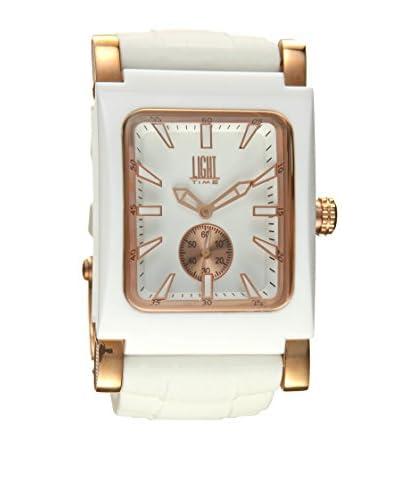 Light Time Reloj Quadro Blanco