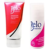 Belo Essentials Underarm Whitening Set - Whitening Roll-on Deodorant And Whitening Underarm Cream - Whitens Stubborn...
