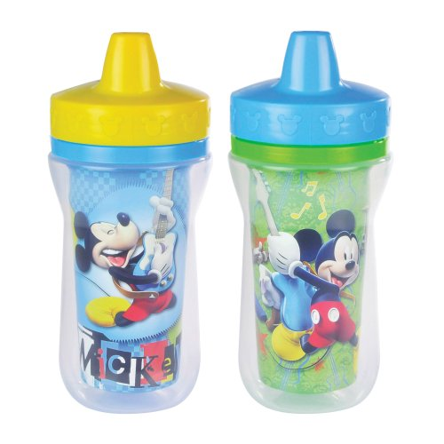 The First Years 2 Pack 9 Ounce Insulated Sippy Cup, Mickey Mouse front-941832