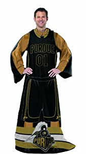 Buy NCAA Purdue Boilermakers Adult Full Body Player Design Comfy Throw with Sleeves by Northwest