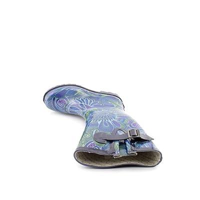 Chooka Women's Invasion Rain Boot,Black/Multi,7 M US