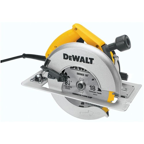(Dw384) 8-1/4 In. (210Mm) Circular Saw With Rear Pivot Depth Of Cut Adjustment And Electric Brake