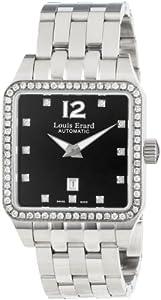 Louis Erard Women's 20700SE12.BMA18 Emotion Square Automatic Black Dial Steel Diamond Watch