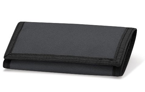 BagBase-Borsa, taglia unica, bambino, a portafoglio nero grafite 9 x 13cm
