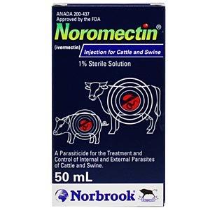 Ivermectin 1% [Noromectin] Injection For Cattle & Swine, 50 ml