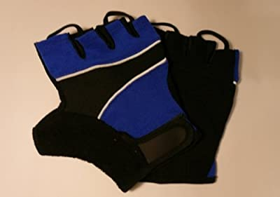 Amara Gym / Cycling / Weight Lifting Training Gloves *extra-large* Blue/black by Solid Fitness