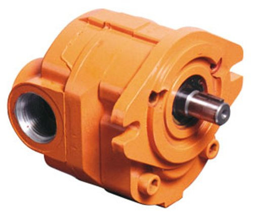 """Cross Manufacturing 360038 40P007 Racsa Aluminum Hydraulic Gear Pump, Right Hand Rotation, Sae """"A"""" Mounting, Keyed Shaft, 0.75 Cu In/Rev Displacement, Orange"""